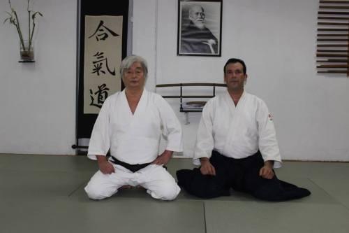 Yamada sensei y Elson Olea